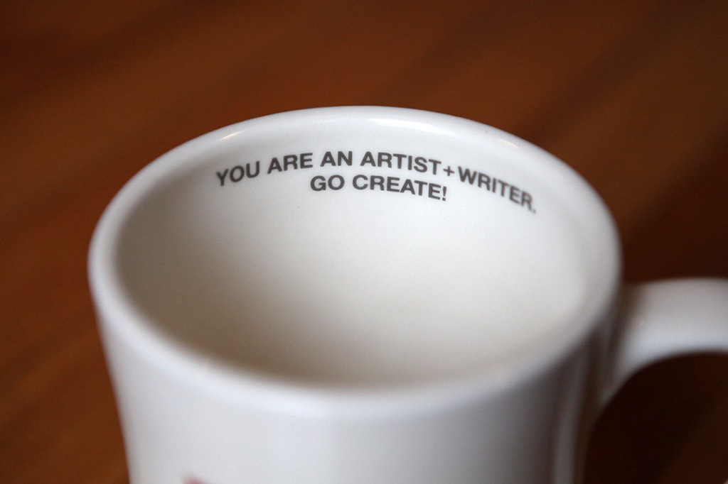 coffee mug writer